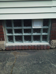 Window with Dryer Vent