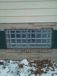 large basement window