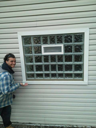 large garage window