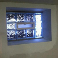 Basement window from inside