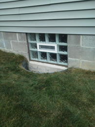 Glass Block Basement Window With Vent